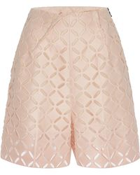 Roland Mouret - Pearl Pink Kelston Shorts - Lyst