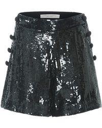 Carolina Herrera - High Rise Sequined Mini Shorts - Lyst