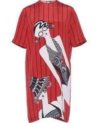 Holly Fulton - Short Sleeve Printed T Shirt Dress - Lyst