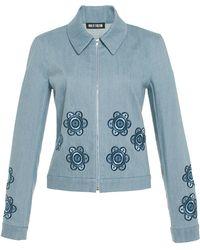 Holly Fulton - Floral Denim Jacket - Lyst