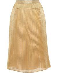 Manoush Metallic Pleated Skirt