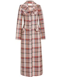 Zimmermann Lucky Checked Cotton-blend Coat - Multicolor