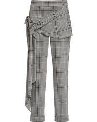 Hellessy Pierre Tie-waist Plaid Pants - Multicolour