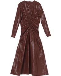By Malene Birger Carlina Coated Cotton Shimmer Dress - Red
