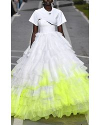 Off-White c/o Virgil Abloh Stabilo Couture T-shirt Gown - White