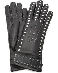 Loewe Studded Leather Gloves - Black