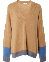 TOME Merino V-neck Pullover - Multicolour