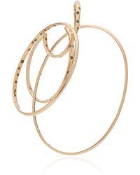 Gaelle Khouri - Episteme 9k Gold And Diamond Single Hoop Earring - Lyst