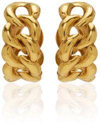 Jennifer Behr Tara Plated Brass Hoops - Metallic