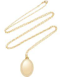 "Monica Rich Kosann - M'onogrammable 18k Yellow Gold And Diamond ""midi"" Four Image Locket On 30"" Chain - Lyst"
