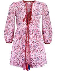 Alix Of Bohemia Billie Paisley Cotton Dress - Pink