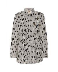 Figue Geometric-print Safari Jacket - Black