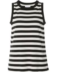 Current/Elliott - The Easy Striped Muscle Tank - Lyst