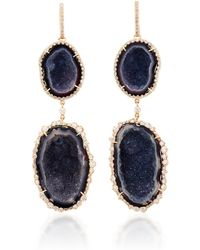 Kimberly Mcdonald - One-of-a-kind Blue Geode Drops - Lyst