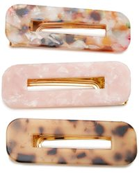 8 Other Reasons Exclusive Set-of-three Tortoiseshell Resin Hairclips - Brown