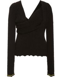 Bottega Veneta Square-neck Boucle Shirt - Black