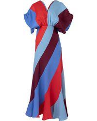 Leal Daccarett Garnet Striped Linen Dress - Multicolour