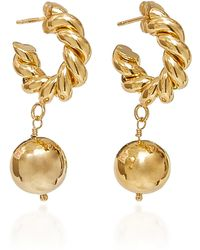 ISABEL LENNSE Twisted Gold-plated Drop Earrings - Metallic