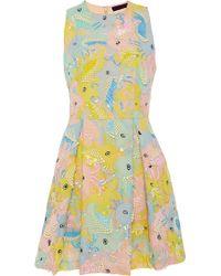 Manish Arora - Life Aquatic Embroidered Chiffon Dress - Lyst