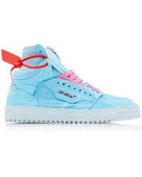 Off-White c/o Virgil Abloh Off Court Canvas High-top Sneakers - Blue
