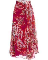 Prabal Gurung - Silk Sarong Skirt - Lyst