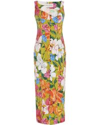 Mara Hoffman - Angelica Buttoned Floral And Linen Blend Midi Dress - Lyst