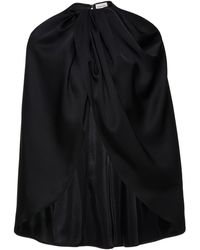 Magda Butrym Riddle Draped Silk-satin Cape - Black