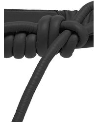 Johanna Ortiz Antiquary Conservation Knotted Leather Belt - Black