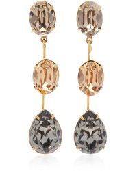 Jennifer Behr Allanah Gold-plated And Crystal Earrings - Metallic