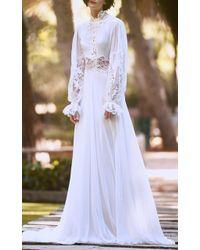 Costarellos Bridal - Silk Chiffon Ethereal Dress - Lyst