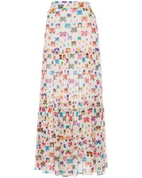 Chufy Iquitos Printed Broadcloth Maxi Skirt - Multicolor