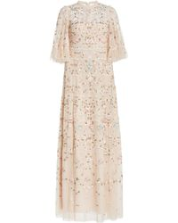 Needle & Thread Regency Embroidered Tulle Gown - Pink