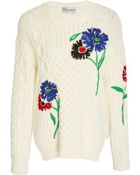 RED Valentino - Embroidered Cotton Sweater - Lyst