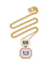 Sig Ward 18k Gold, Enamel, Sapphire And Tanzanite Necklace - Metallic