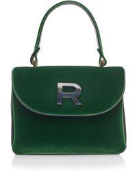 Rochas - Logo Velvet Bag - Lyst