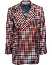 ANOUKI - Checkered Oversized Blazer - Lyst
