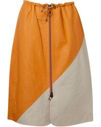 Dodo Bar Or Jonna Leather Skirt - Orange