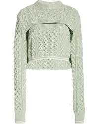 Rosie Assoulin Thousand-in-one-ways Wool-cotton Jumper - Green