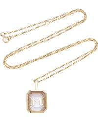Mateo - M'onogram Rose De France Initial Necklace - Lyst