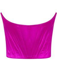 Alex Perry Bennett Cotton-silk Strapless Bustier - Pink