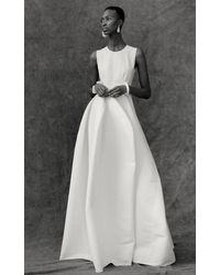 Maison Rabih Kayrouz Sleeveless Cotton Fit And Flare Gown - White