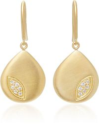 Jamie Wolf   18k Gold Diamond Pear Earrings   Lyst