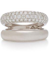 Carbon & Hyde Gemini 14k White Gold Diamond Ring - Metallic