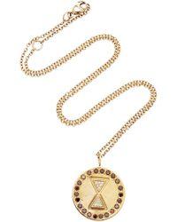 Misahara - Unity Charm 18k Rose Gold Diamond Necklace - Lyst