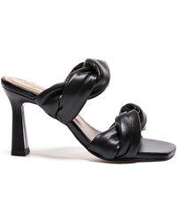 Flattered River Leather Sandals - Black