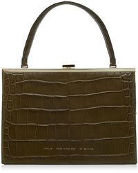 Chylak Croc-effect Leather Top Handle Bag - Green