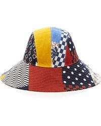 Tory Burch - Floral Patchwork Hat - Lyst