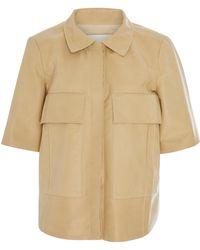 Nellie Partow - Quinn Calfskin Shirt - Lyst