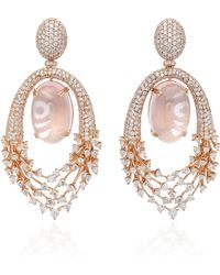 Hueb - 18k Rose Gold Diamond Luminous Earrings - Lyst