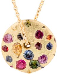 Polly Wales Celeste 18k Gold Sapphire Necklace - Metallic